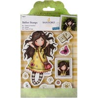 Gorjuss Santoro Rubber Stamp-Spring At Last