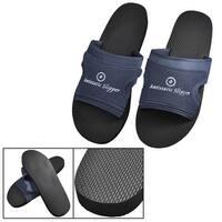 Unique Bargains Men's Dust-free Plant Black Nonslip Sole Anti-static Slippers EU 40.5
