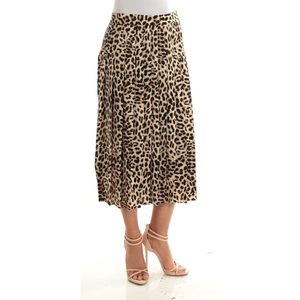 af250bc73dab51 Shop VINCE CAMUTO Womens Brown Animal Print Midi A-Line Skirt Size: 4 -  Free Shipping On Orders Over $45 - Overstock - 22642896