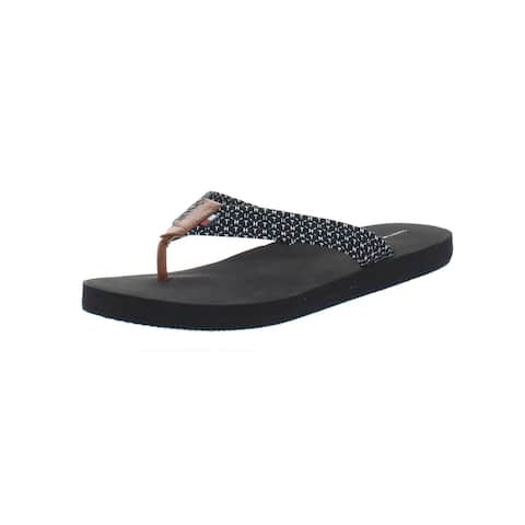 Tommy Hilfiger Womens Cursive-X Thong Sandals Synthetic Flat