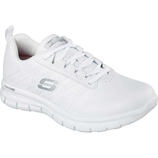 7506a19b3446 Shop Skechers Women s Work Relaxed Fit Sure Track Erath Slip Resistant White  - On Sale - Free Shipping Today - Overstock - 11448847