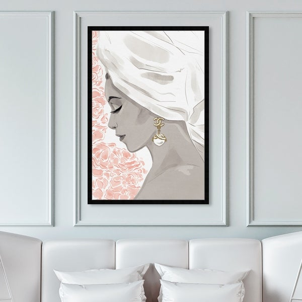 Oliver Gal 'Bath Bomb Beauty III' Fashion and Glam Framed Wall Art Prints Portraits - Gray, Pink. Opens flyout.