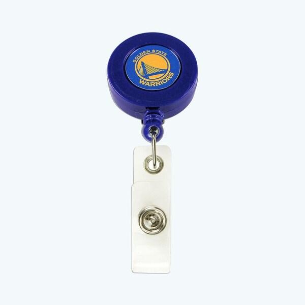 NBA Golden State Warriors Retractable Badge Reel Id Ticket Clip