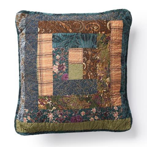 Donna Sharp Cabin Raising Pine Cone Patch Decorative Pillow