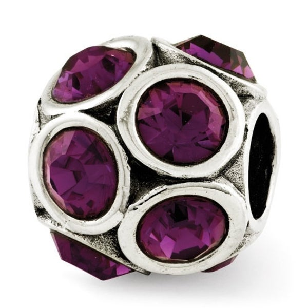 Sterling Silver Reflections February Swarovski Elements Bead (4mm Diameter Hole)