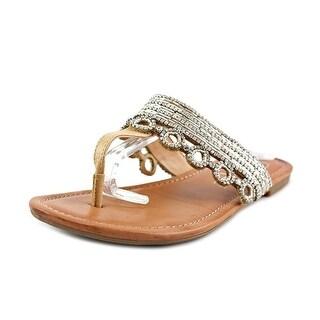 Jessica Simpson Ravalli Women Open Toe Synthetic Tan Thong Sandal