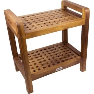 SeaTeak 60026 Shower and Spa Seat Rectangular-Grate with lower shelf-Oiled Finish|https://ak1.ostkcdn.com/images/products/is/images/direct/eb3a6fcfffd453b69b459f51f28c0bd9f70009a7/SeaTeak-60026-Shower-and-Spa-Seat-Rectangular-Grate-with-lower-shelf-Oiled-Finish.jpg?impolicy=medium