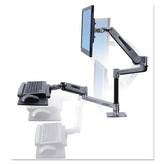 Ergotron 45-405-026 Workfit-Lx Sit-Stand Desk Mount System