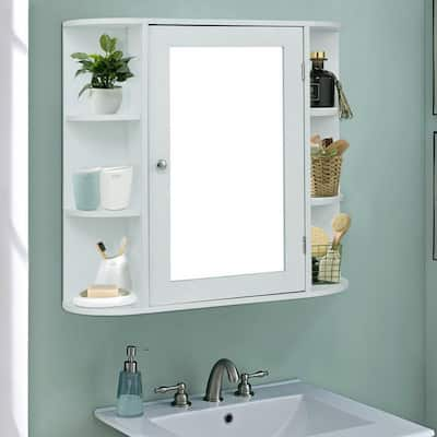 "23""Bathroom Furni Vanity Storage Organizer Mounted Wall Cabinet with Door"