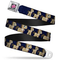 My Little Pony Logo Full Color Black Pink Doctor Whooves W Tie Navy Webbing Seatbelt Belt