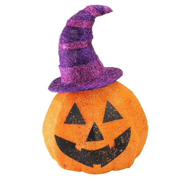 Shop 18 Battery Operated Lighted Sisal Jack O Lantern Wearing A