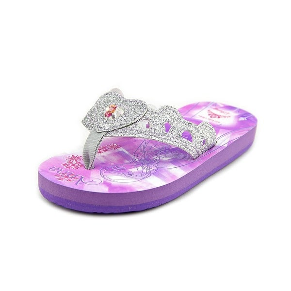 Stride Rite Anna Elsa Eva Toddler Open Toe Synthetic Silver Flip Flop Sandal