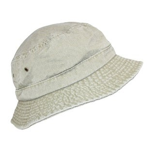 Dorfman Pacific Cotton Packable Summer Travel Bucket Hat