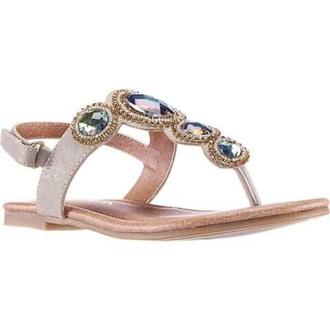 58abd92b7 Nina Girls' Kellie Thong Sandal Platino Metallic Synthetic. Was. $49.99.  $10.00 OFF. Sale $39.99