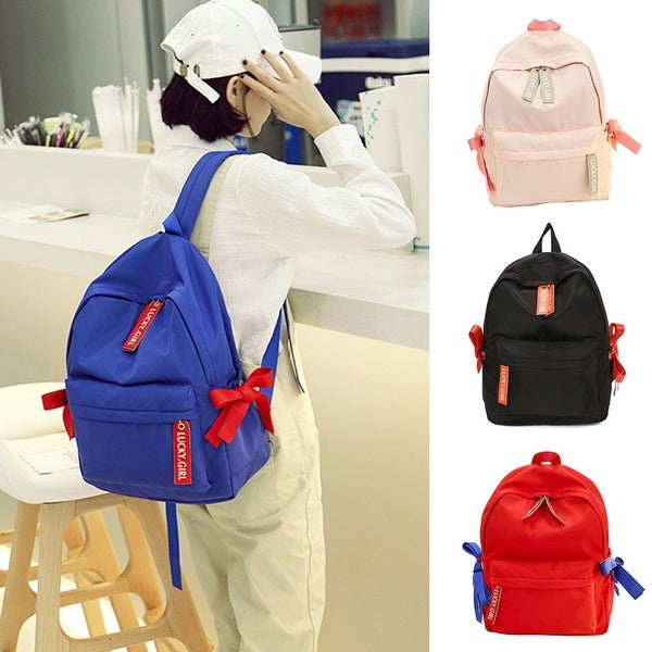 0631698c52 Shop Women Girl School Bag Rucksack College Travel Nylon Bowknot Zipper Backpack  Gift - Free Shipping On Orders Over  45 - Overstock.com - 23175308