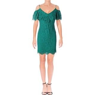 Lauren Ralph Lauren Womens Petites Cocktail Dress Lace Mini - 2p