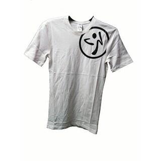 Zumba Men Zumba Men T-Shirt Solid Graphic, White, Extra Small