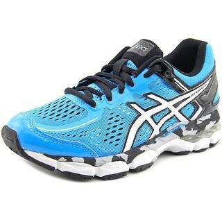 Asics Gel-Kayano 22 Youth Round Toe Synthetic Blue Running Shoe