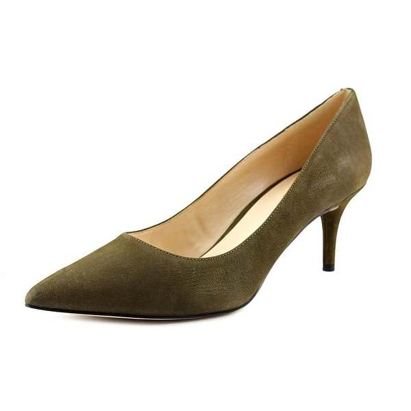 Nine West Margot Women Pointed Toe Leather Green Heels