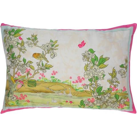 Enchanted Bird Jeromy Silk Pillow