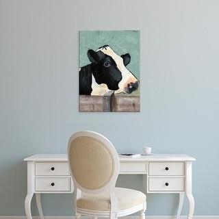 Easy Art Prints Jade Reynolds's 'Holstein Cow I' Premium Canvas Art