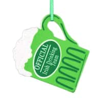 """4"""" Luck of the Irish """"Official Drinking Team"""" Beer Mug Christmas Ornament - green"""