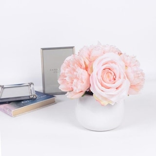 FloralGoods Light Pink Peony and Rose Mixed Flower Arrangement