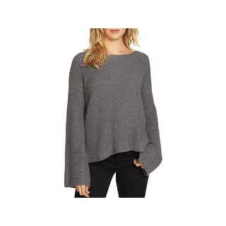 1.State Womens Pullover Sweater Heathered Bell Sleeves