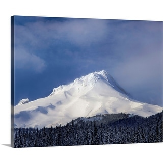 """Mt Hood, White River, Mt Hood National Forest, Hood River County, Oregon"" Canvas Wall Art"