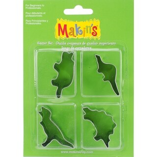 Makin's Clay Cutters 4/Pkg-Dinosaurs