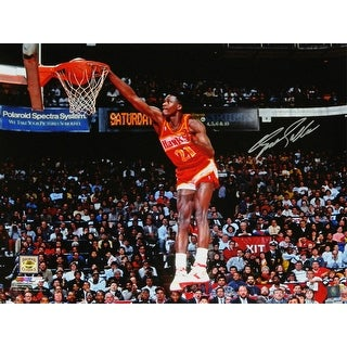 Dominique Wilkins Atlanta Hawks One Hand Slam Dunk 16x20 Photo