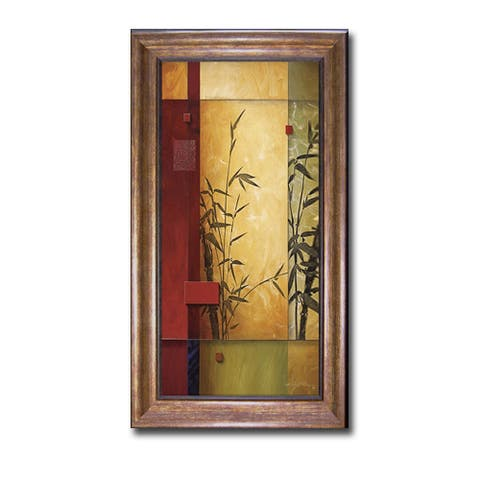 Garden Dance I by Don Li-Leger Bronze-Gold Framed Canvas Art (40 in x 22 in Framed Size)