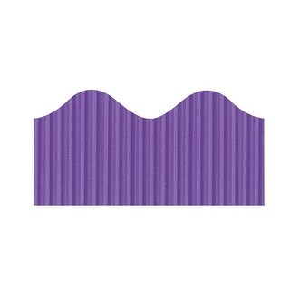 Pacon Bordette Scalloped Decorative Border, 2-1/4 in X 50 ft, Deep Purple