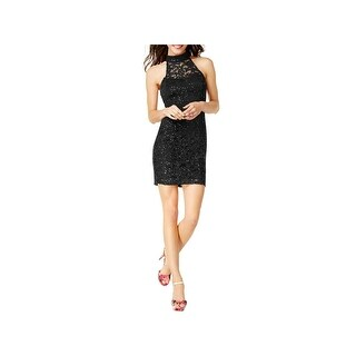 Speechless Womens Juniors Bodycon Dress Lace Sequined