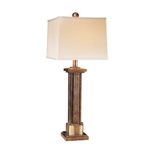 Ambience AM 10937 1 Light Table Lamp from the Global Collection - Silver