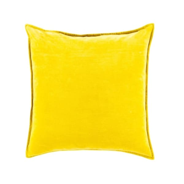 "20"" Chastity's Blush of Pureness Lemon Glacier Yellow Decorative Throw Pillow - Down Filler"