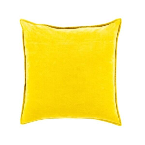 "20"" Chastity's Blush of Pureness Lemon Glacier Yellow Decorative Throw Pillow"