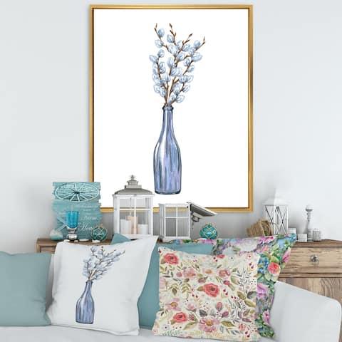 Designart 'Bunch of Willow Twigs II' Farmhouse Framed Canvas Wall Art Print