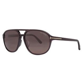 Tom Ford Jacob TF 447-F 49J 61mm Shiny Dark Brown Men's Aviator Sunglasses - shiny dark brown - 61mm-15mm-140mm