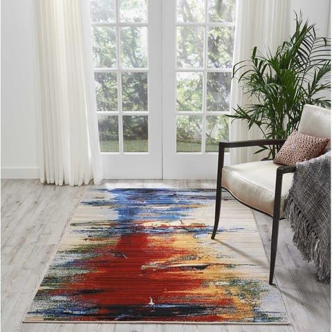 Nourison Chroma Colorful Abstract Area Rug