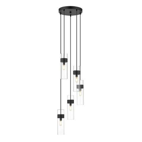 OVE Decors Bruce 5-Light LED Pendant Black Finish Bulbs Included