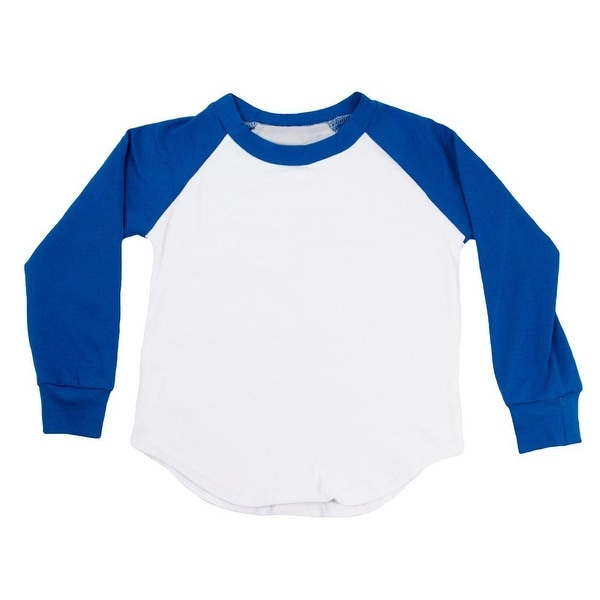 Unisex Baby Royal Blue Two Tone Long Sleeve Raglan Baseball T-Shirt 6-12M
