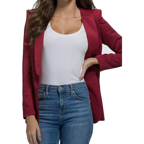 Yesereal Women's Jacket Burgundy Red Size XXL Open Front Shawl Collar