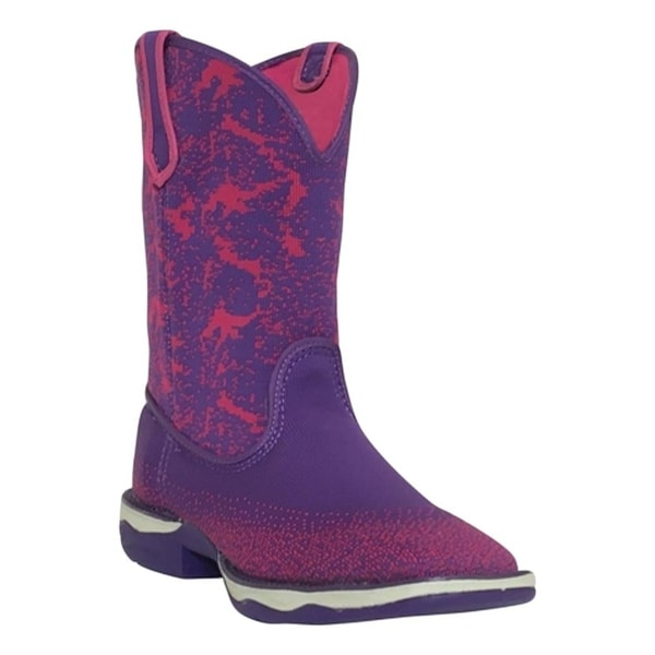 Laredo Western Boots Womens Berry Woven Light Square Toe Purple
