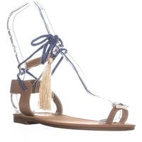 Circus by Sam Edelman Binx2 Lace Up Flat Sandals, Golden Caramel