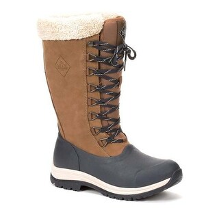 Muck Boot Women's Arctic Apres Lace Tall Blue/Otter Size 10 Winter Boots