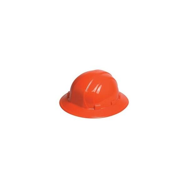 Erb industries inc 19923o omega ii full brim ratchet hat hi visibility orange
