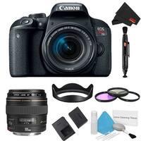 Canon EOS Rebel T7i DSLR Camera with 18-55mm Lens Kit + 100mm Lens (Intl Model)