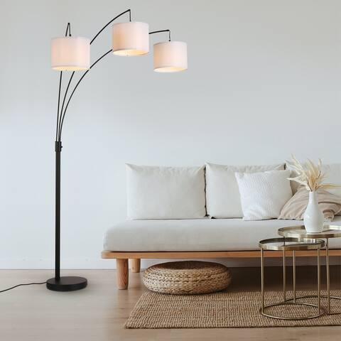 82in Cedar Hill 3 light Tree Arc Decor Floor lamps