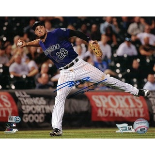 Nolan Arenado Autographed Colorado Rockies 8x10 Photo Batting FAN